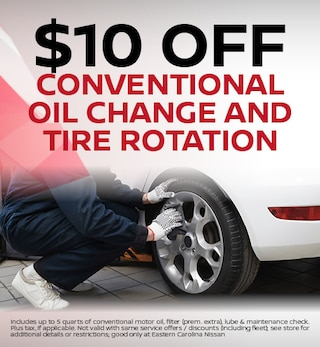 $10 off Conventional Oil Change and Tire Rotation