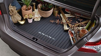Let geniune Toyota Cargo Mats help your cargo area stay clean this winter!
