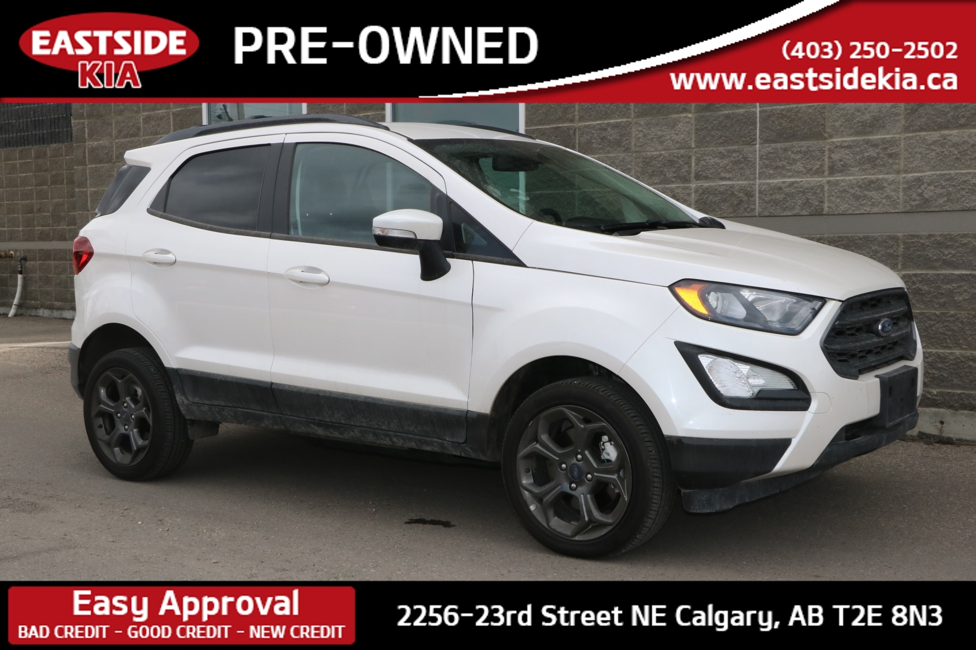 2018 Ford EcoSport SES AWD BLIND SPOT DETECT SUNROOF CAMERA HTD ST