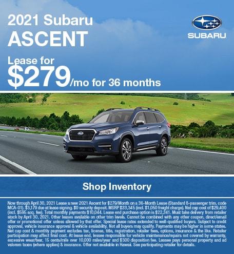 2021 Subaru Ascent (Lease)