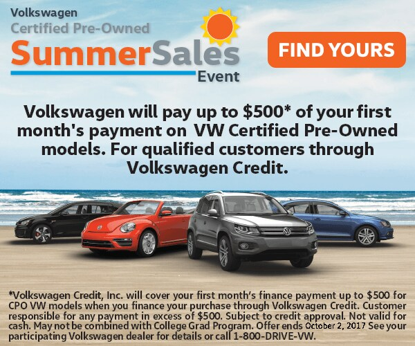 Certified Pre Owned Special Offers Eastside Volkswagen