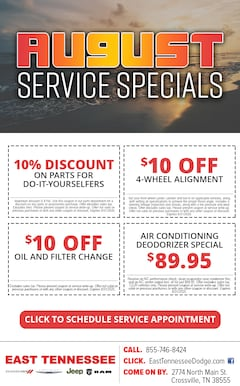 Service Specials near Crossville TN