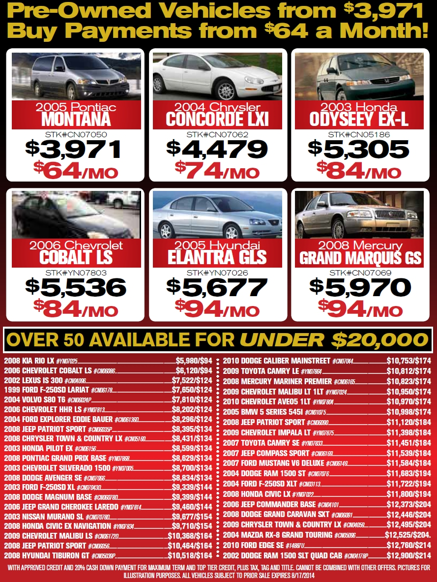 Summer Sell Down Event Used Vehicle Specials in Crossville TN