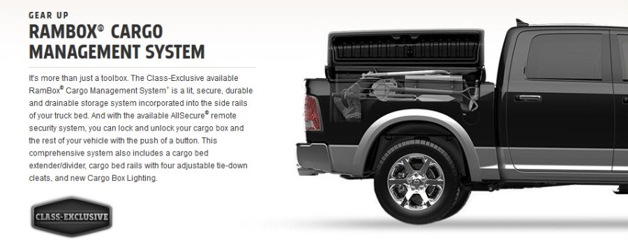 Ram 1500 Cargo Box Features