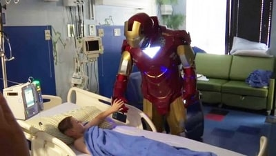 Iron Man surprised kids at East Tennessee Children's Hospital in Knoxville, near Crossville TN