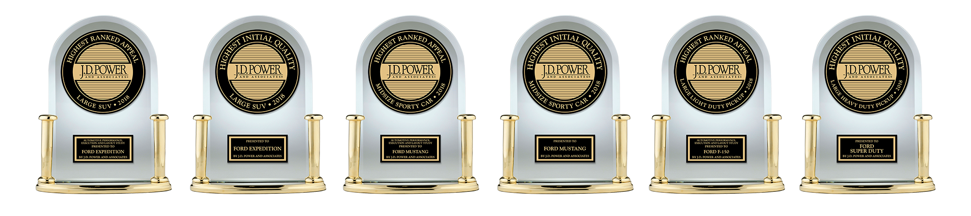 We Are Thrilled To Announce That Ford Is The Most Awarded Brand For Initial Quality And Vehicle Appeal In  According To J D Power