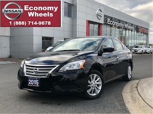 2015 Nissan Sentra SV/rr cam/heated seats/push button