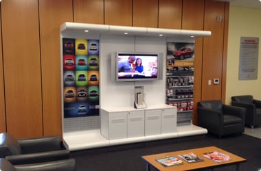 Image Of Waiting Area Of Nissan Dealership In New Orleans - Eddie Tourelle's Northpark Nissan