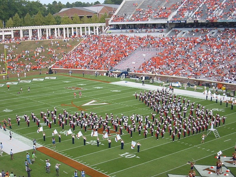 UVa Cavalier Football Team in Charlottesville, VA