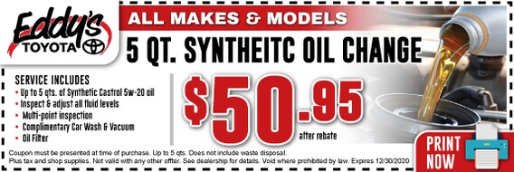 Synthetic Oil Change Coupons >> Toyota Synthetic Oil Change Service Coupon Wichita Derby
