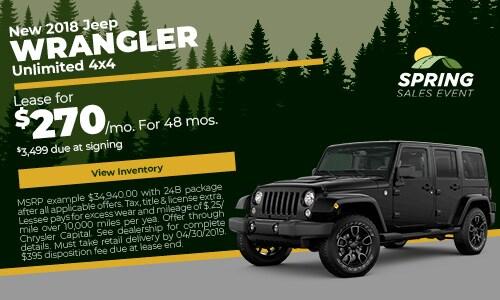 April 2018 Wrangler Lease Offer