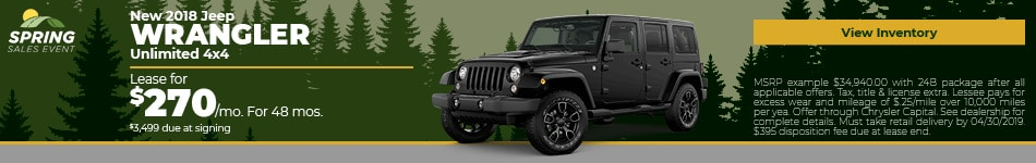 April 2018 Wrangler Lease Offer