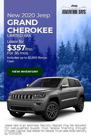 October New 2020 Jeep Grand Cherokee Limited 4x4 Offer