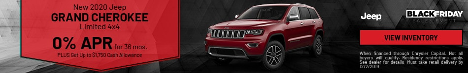 November New 2020 Jeep Grand Cherokee Limited 4x4 Offer