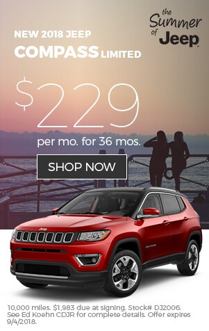 2018 Jeep Compass Ltd Lease
