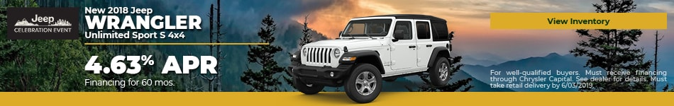 May 2018 Wrangler Finance Offer