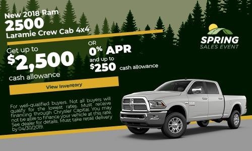 April 2018 2500 Cash Offer