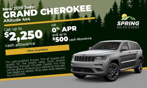 April 2019 Grand Cherokee Cash Offer