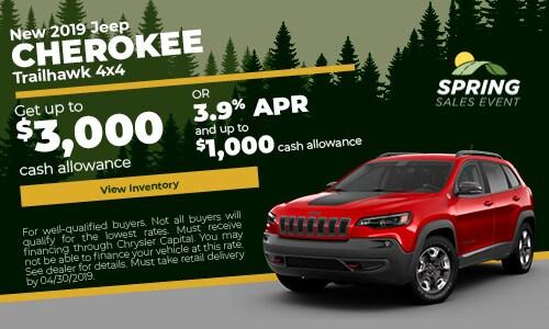April 2019 Cherokee Cash Offer