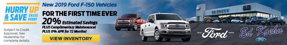 July 2019 F-150 Hurry & Save Offer