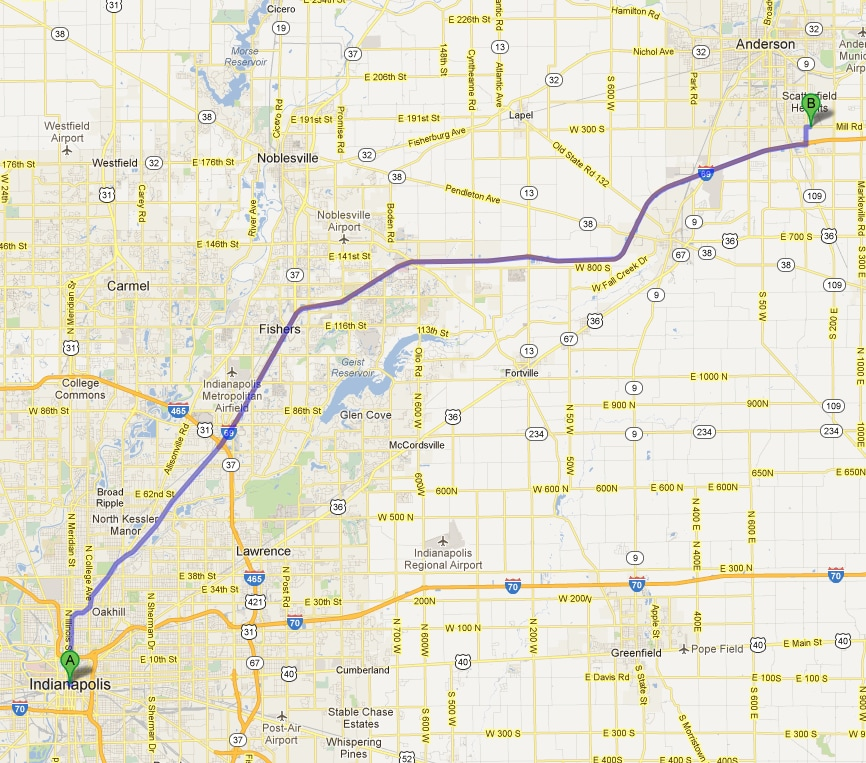 Dodge Dealership Indianapolis >> Map Directions To From Indianapolis To New Used Car Dealership