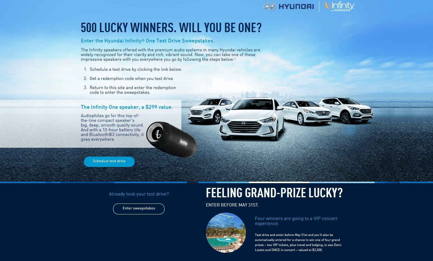 Infinity Speaker Giveaway | Edmond Hyundai | Get entered to win an