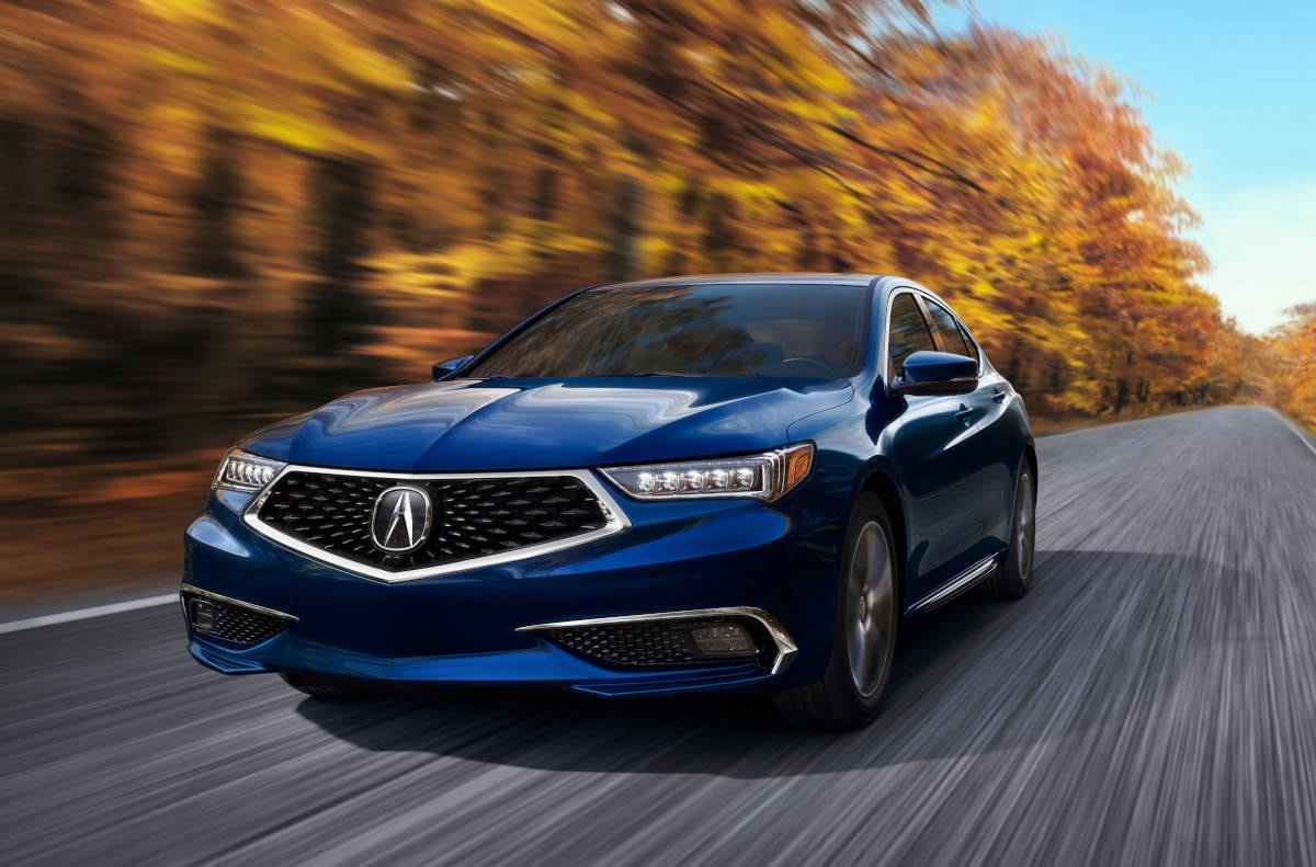 Acura TLX Midsize Luxury Sedan on Autumnal Road