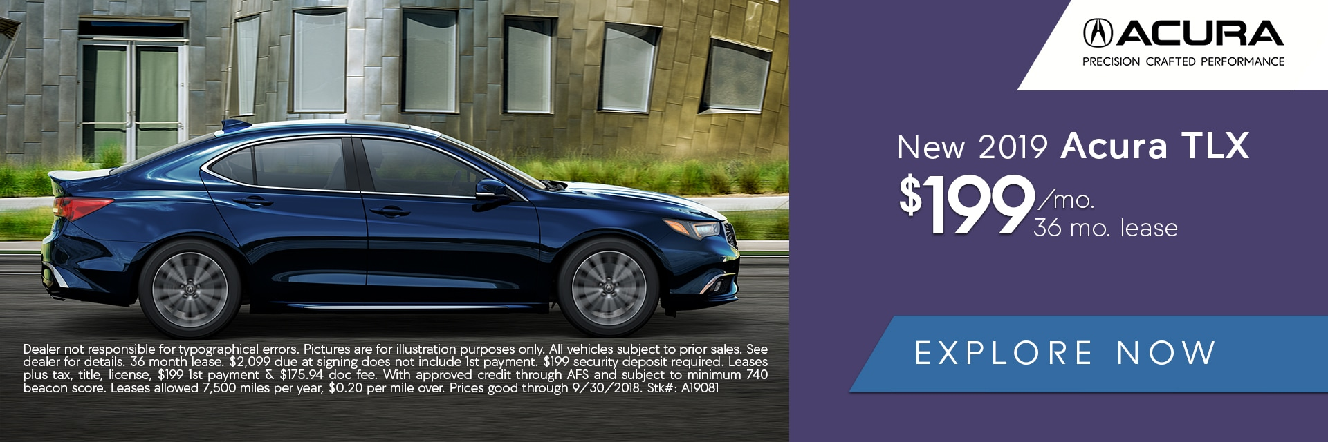 Acura TLX Lease Deal
