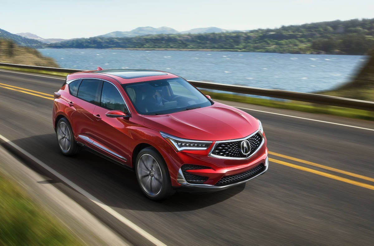 2019 Acura RDX Luxury Crossover SUV Driving Across Bridge