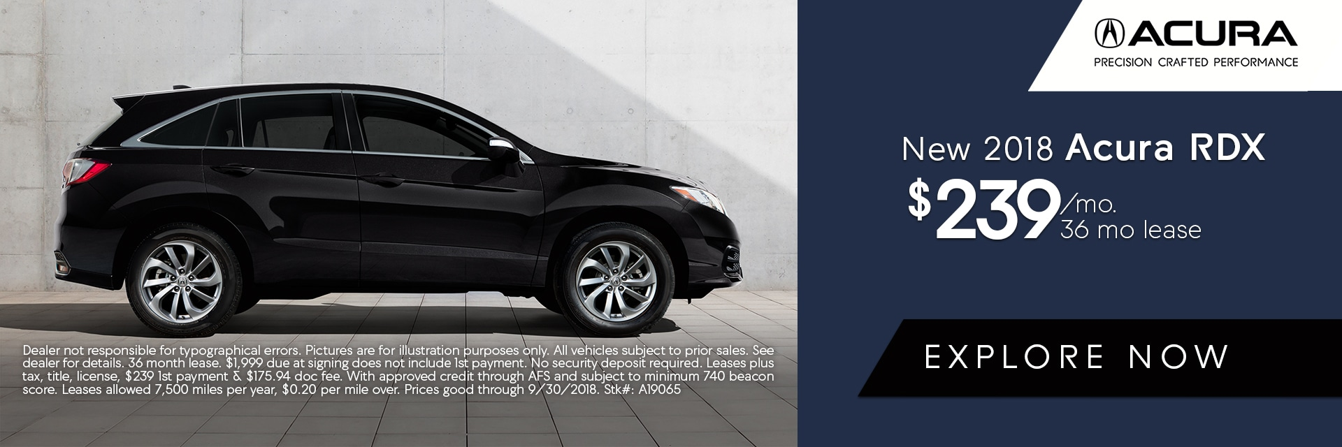 Acura RDX Lease Deal