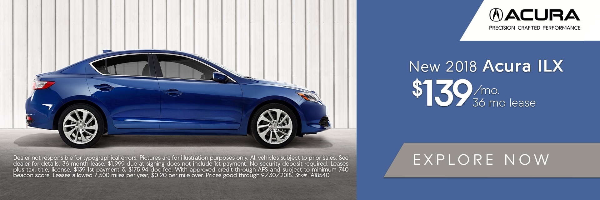 2018 Acura ILX Lease Deal