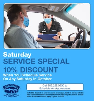 10% OFF Saturday Service