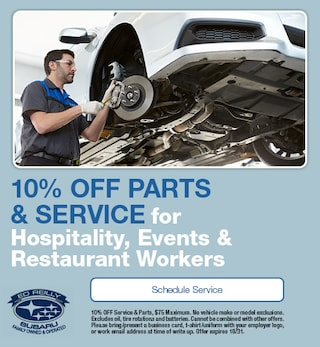 10% OFF Service for Hospitality Workers