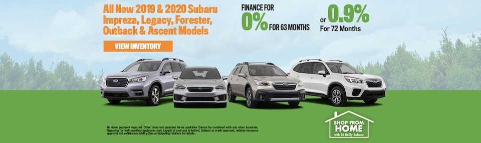 0% Financing On All Ascent, Forester, Outback, Impreza & Legacy Models