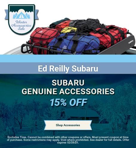 15% OFF Genuine Subaru Accessories