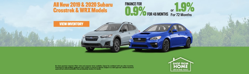 0.9% Financing On All Subaru Crosstrek & WRX Models