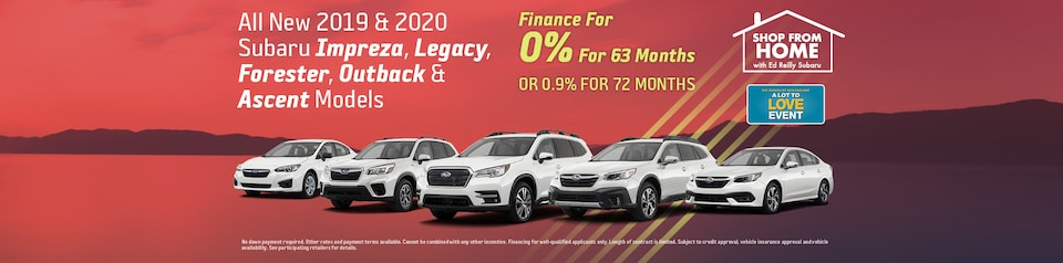 All New 2019 & 2020 Subaru Models