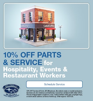 10% OFF For Hospitality Workers
