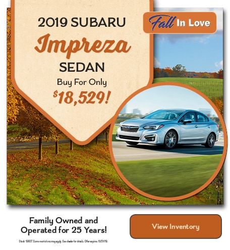 2019 Subaru Impreza Buy For