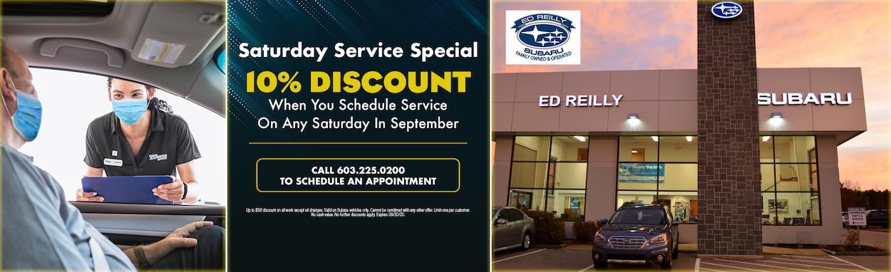 10% OFF Saturday Service