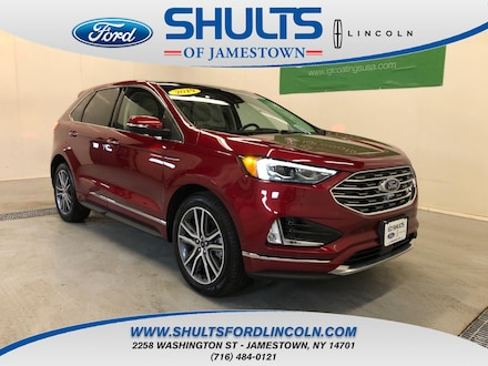 Featured Used 2019 Ford Edge Titanium SUV for Sale in Jamestown, NY