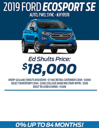 Buy a 2019 Ford EcoSport for only $18,000!