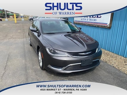 Featured Used 2015 Chrysler 200 4dr Sdn Limited FWD Car for sale in Warren, PA