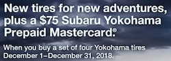 Get a Subaru Yokohama Prepaid Mastercard!