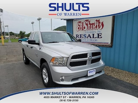 Featured Used 2019 Ram 1500 Classic Express 4x4 Quad Cab 64 Box Crew Cab Pickup for sale in Warren, PA