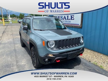 Featured Used 2018 Jeep Renegade Trailhawk 4x4 Sport Utility for sale in Warren, PA