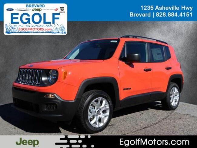 New 2018 Jeep Renegade SPORT 4X4 Sport Utility Near Asheville