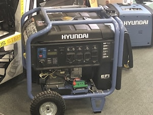 2018 General Heavy Equipment Hyundai 7500W Portable Inverter Generator