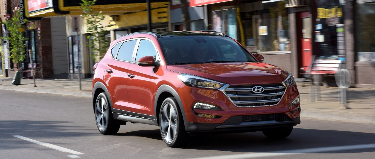 2018 Hyundai Tucson on city street