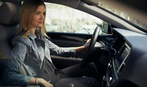 woman in 2019 Hyundai Sonata